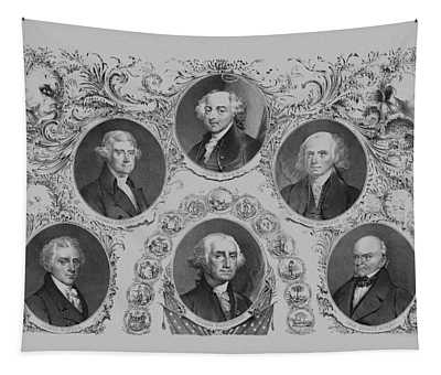 First Six U.s. Presidents Tapestry