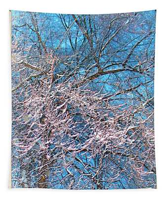 First Snow At Dawn Tapestry