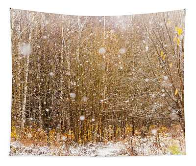 First Snow. Snow Flakes I Tapestry