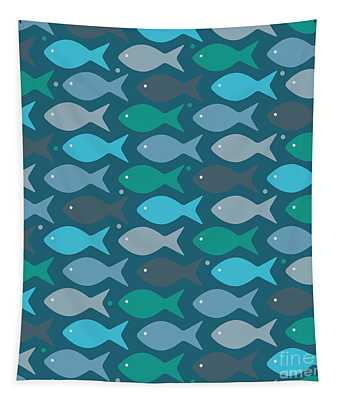 Fish Blue  Tapestry