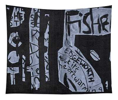 Fisher Covers White On Black Tapestry