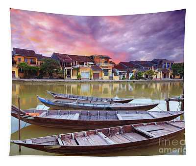 Fisherman Boats Tapestry