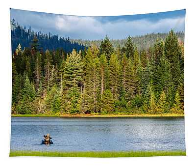 Fishing Alone Tapestry