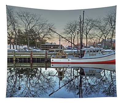 Fishing Boat At Newburyport Tapestry