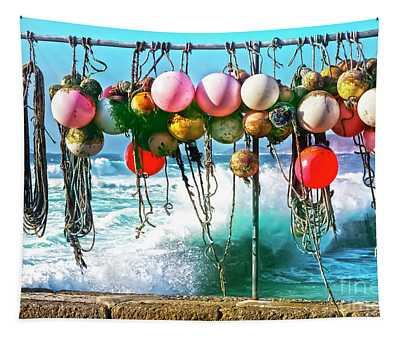 Fishing Buoys Tapestry