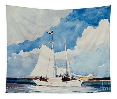 Fishing Schooner In Nassau Tapestry