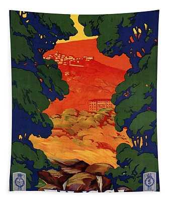 Fiuggi, Italy - Vintage Travel Art - Retro Travel Poster - Vintage Poster Tapestry