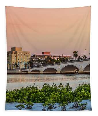 Flagler Bridge In The Evening I Tapestry
