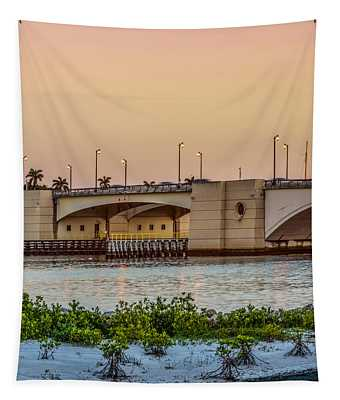 Flagler Bridge In The Evening II Tapestry