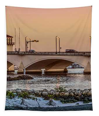 Flagler Bridge In The Evening IIi Tapestry