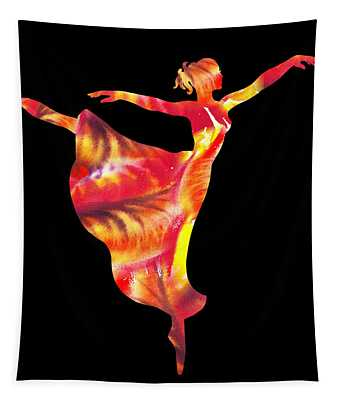 Flaming Arabesque  Tapestry