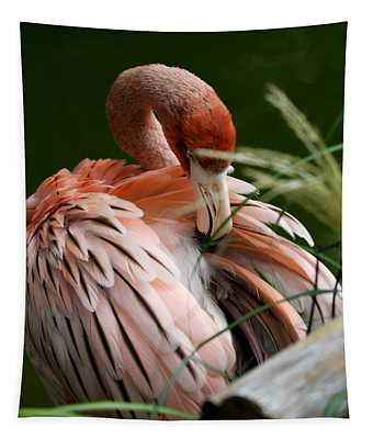 Flamingo Boudoir Tapestry