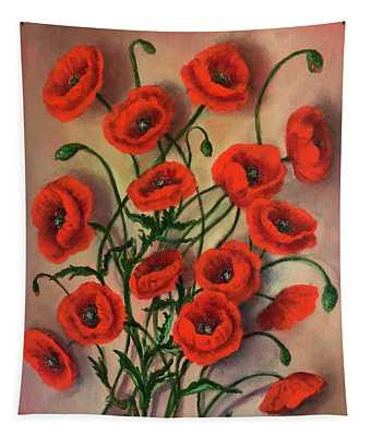 Flander Poppies Tapestry