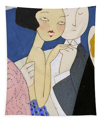 Flapper Roaring 20s Couple Dancing Phone Case Tapestry