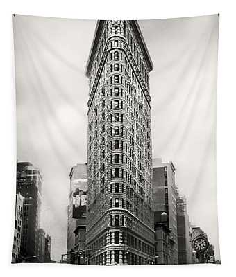 Flatiron District Rush Hour Tapestry