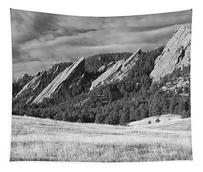 Flatiron Morning Light Boulder Colorado Bw Tapestry