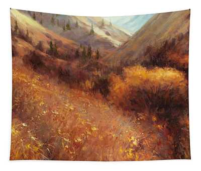 Flecks Of Gold Tapestry
