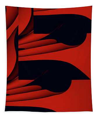 Flight - Red Version Tapestry