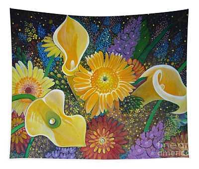 Floral Fireworks Tapestry