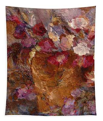 Floral Still Life Pinks Tapestry
