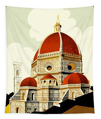 Florence Travel Poster Tapestry