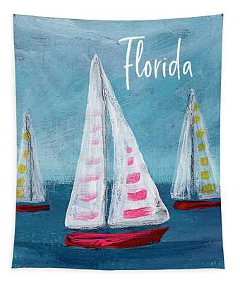 Florida Sailing- Art By Linda Woods Tapestry