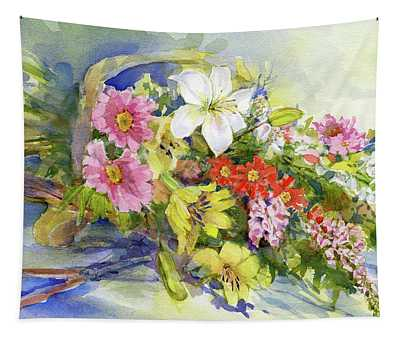 Flower Basket Tapestry