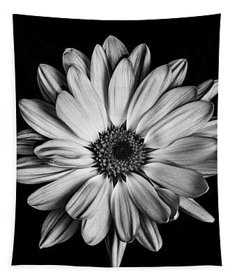 Tapestry featuring the photograph Flower In Black And White by Emily Bristor