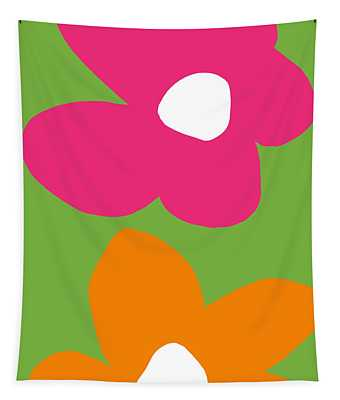 Flower Power 1- Art By Linda Woods Tapestry