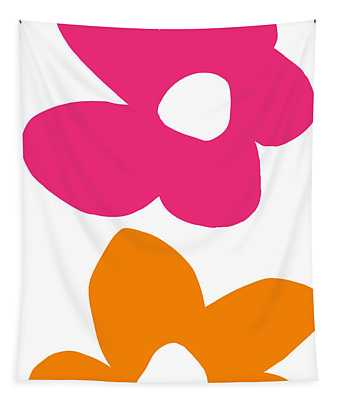 Flower Power 4- Art By Linda Woods Tapestry