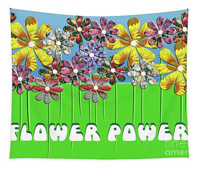 Flower Power Tapestry