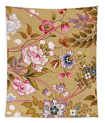 Flowered Textile Design Tapestry