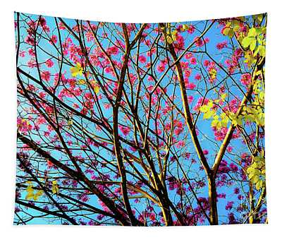 Flowers And Trees Tapestry
