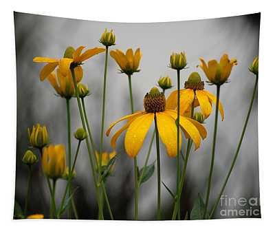 Flowers In The Rain Tapestry