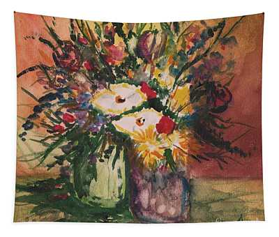 Flowers In Vases Tapestry