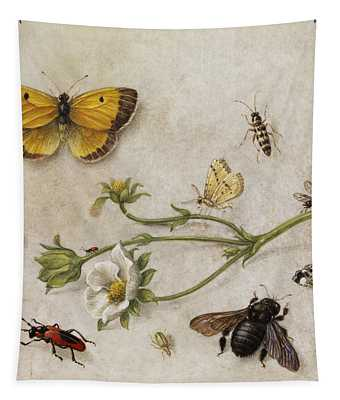 Flowers, Insects And Butterflies Tapestry