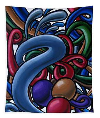 Colorful Abstract Art Painting Chromatic Water Artwork  Tapestry
