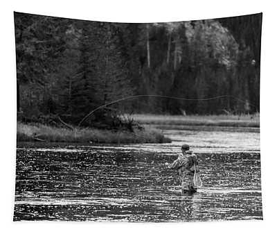 Fly Fishing Yellowstone Wy B W Tapestry