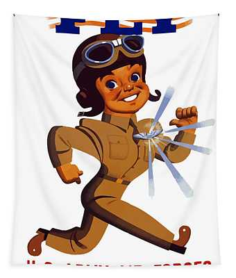 Fly - Us Army Air Forces Tapestry