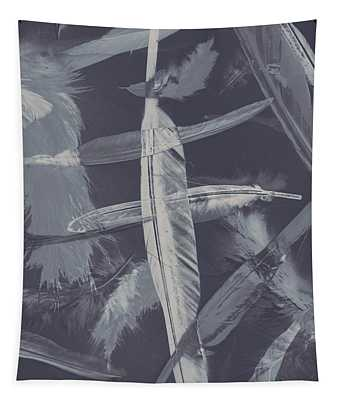 Flying Featherabstract Background Tapestry