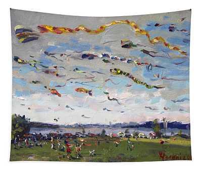 Flying Kites Over Gratwick Park Tapestry