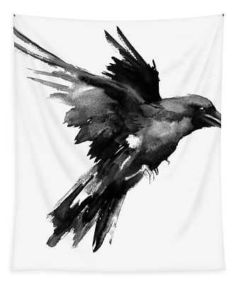 Flying Raven Tapestry