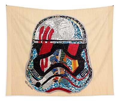 Storm Trooper Fn-2187 Helmet Star Wars Awakens Afrofuturist Collection Tapestry