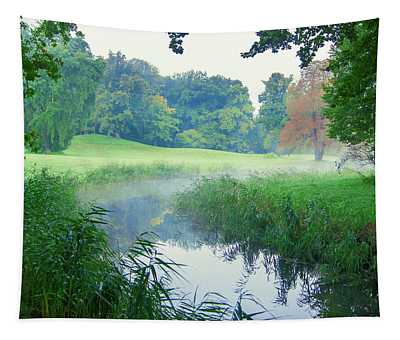Fog Along A Creek In Autumn Tapestry