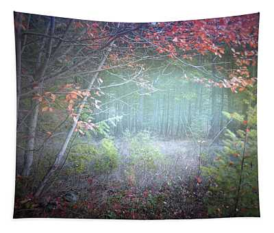 Fog In The Forest At The End Of October 5 Tapestry