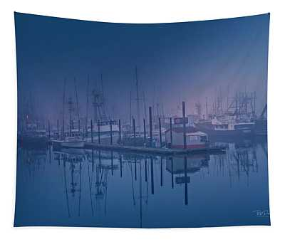 Foggy Bay Front Tapestry