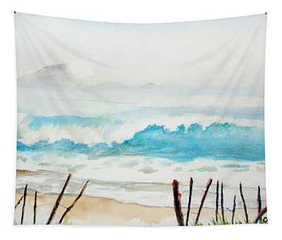 Foggy Beach Tapestry