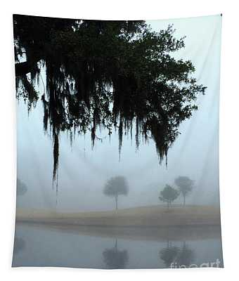 Foggy Morn Reflections Tapestry
