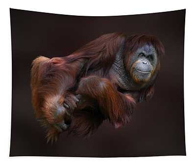 Folded Orangutan Tapestry