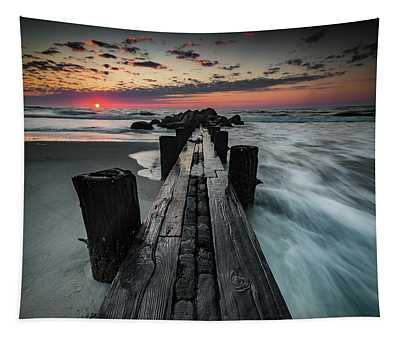 Folly Beach Tale Of Two Sides Tapestry